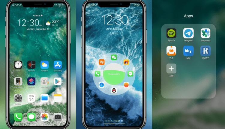 iPhone iOS EMUI 9